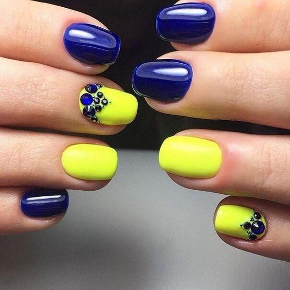 acrylic nails ideas yellow photo - 2