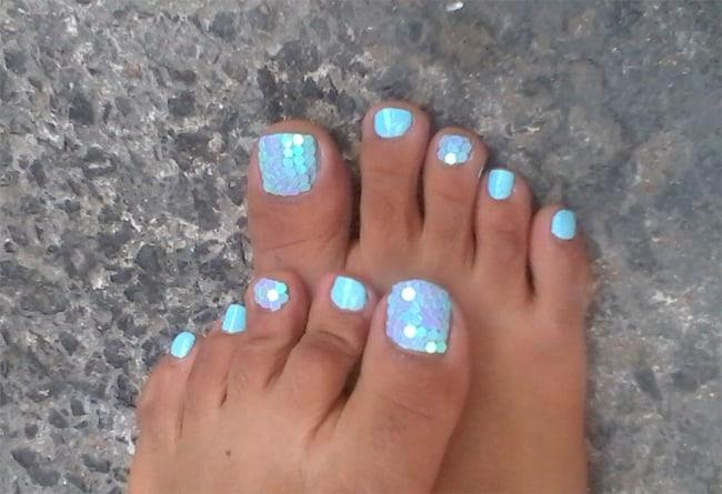 acrylic nails light colors photo - 2