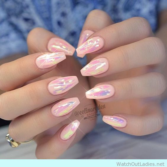 Light Pink Clear Acrylic Nails