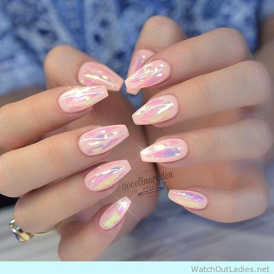 Acrylic Nails Light Pink Photo 1
