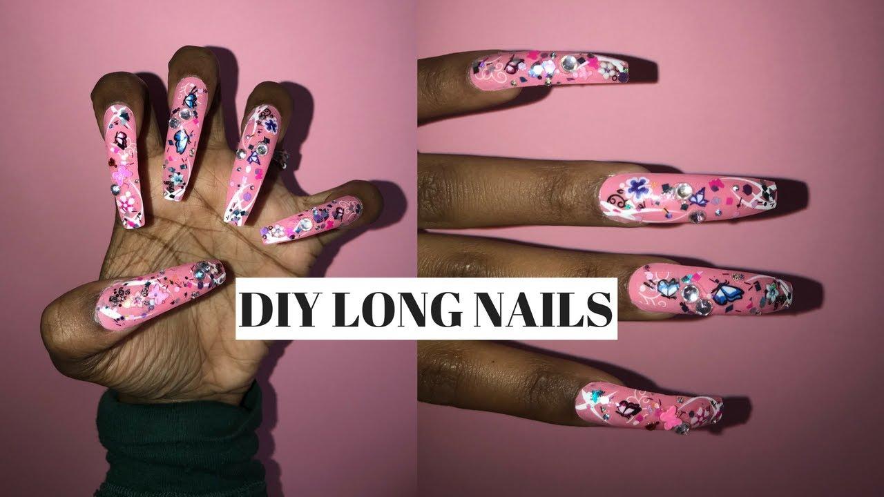 acrylic nails long photo - 2