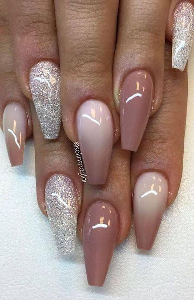 acrylic nails mauve photo - 1