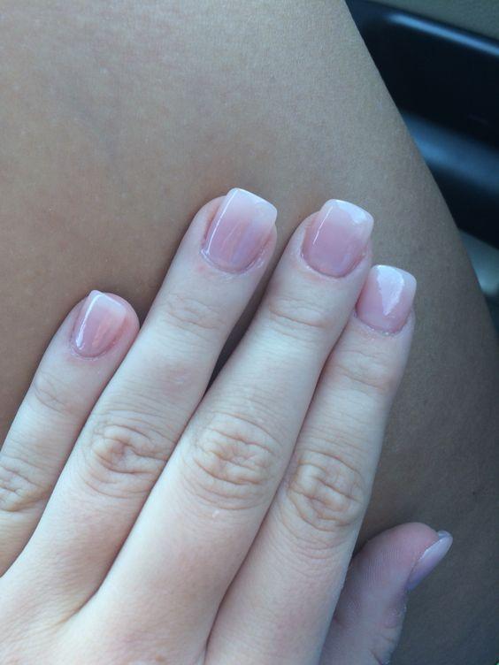 acrylic nails natural look photo - 1