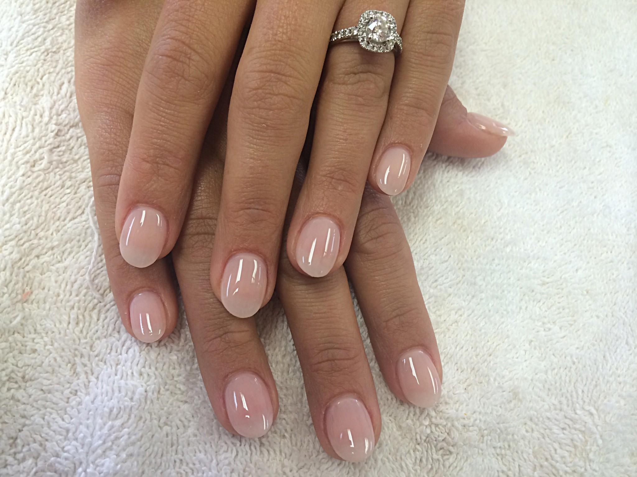 acrylic nails natural look photo - 2