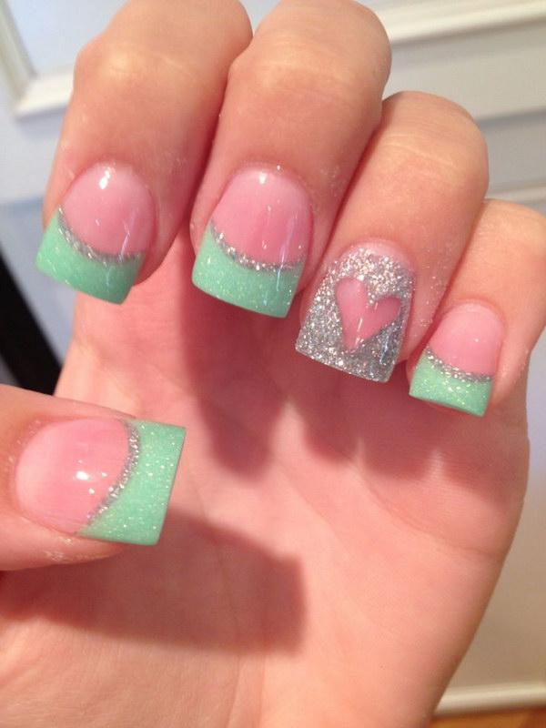 acrylic nails olive green photo - 1
