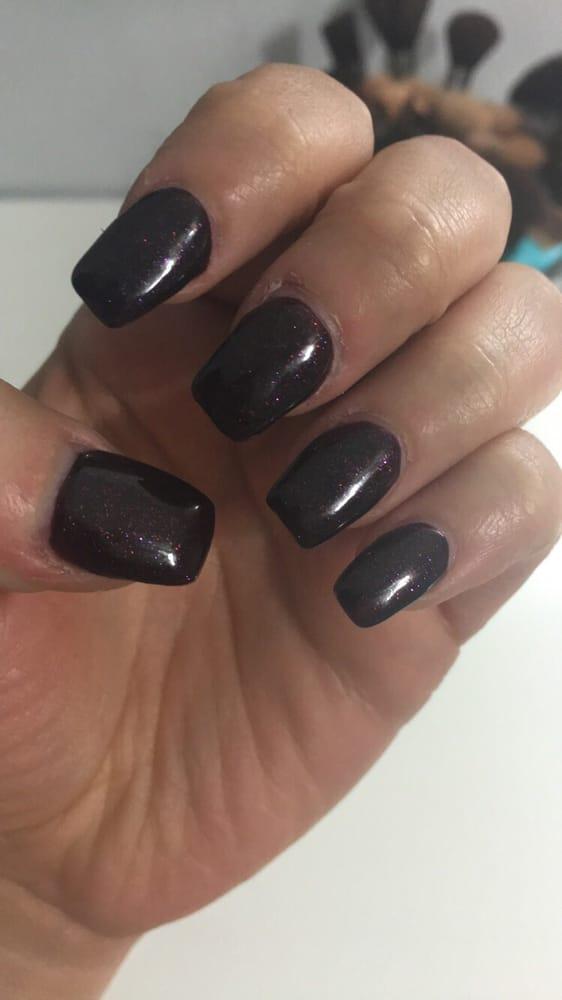 acrylic nails on dark skin photo - 2