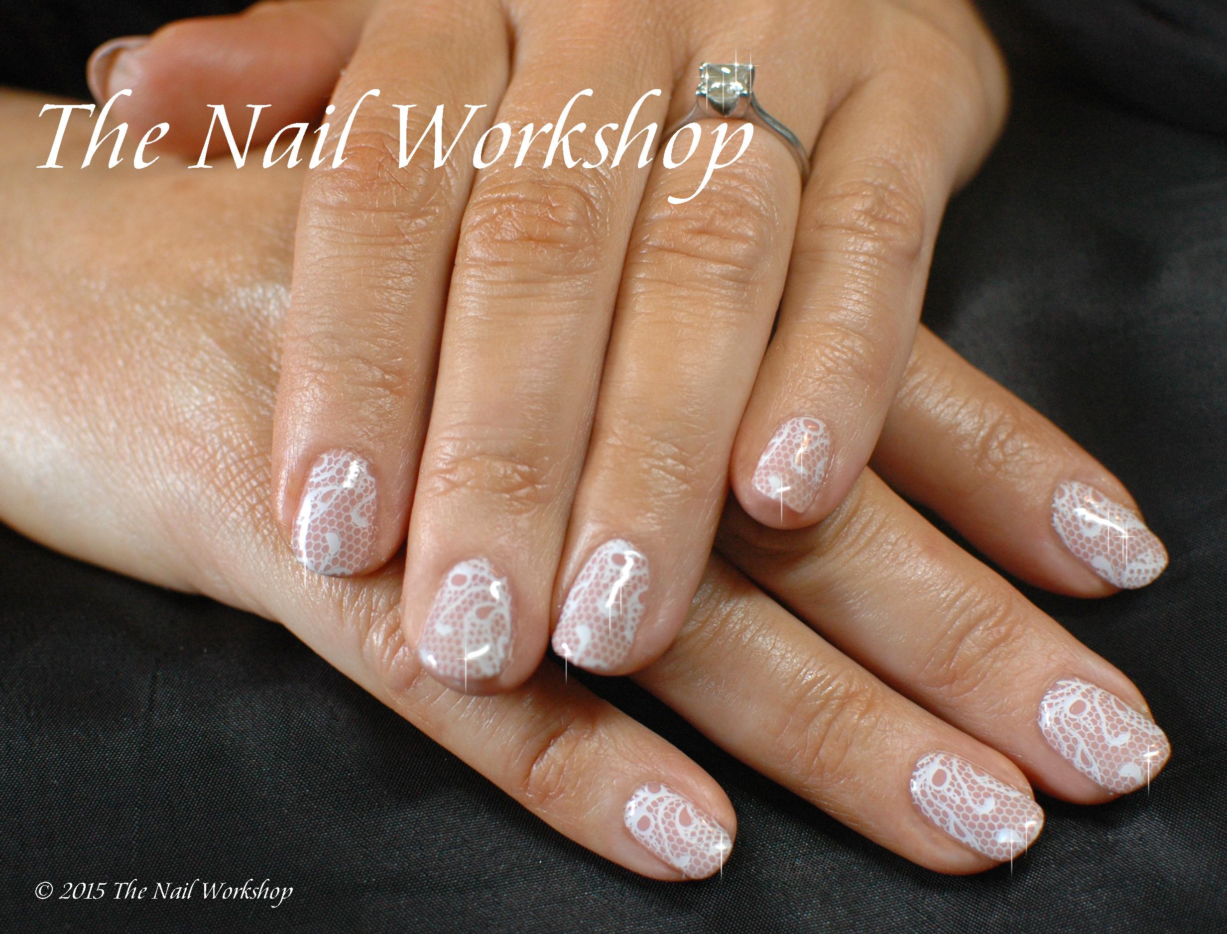 acrylic nails or shellac for wedding photo - 2