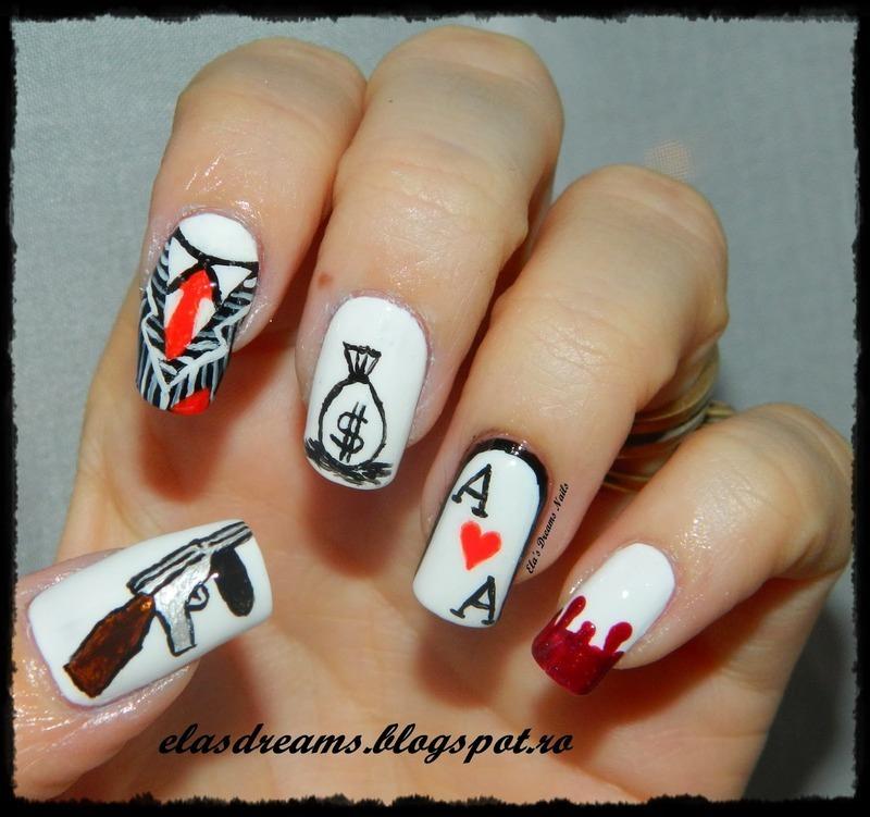 acrylic nails paint photo - 2