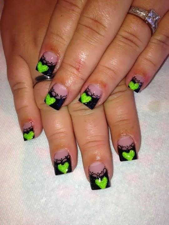acrylic nails painted photo - 2