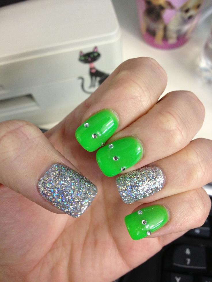 acrylic nails peach photo - 1