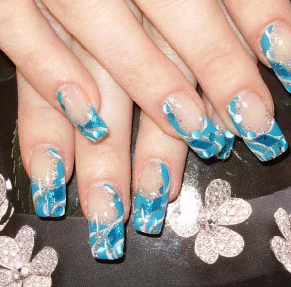 acrylic nails pink photo - 1