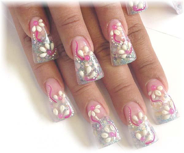 acrylic nails pretty photo - 1