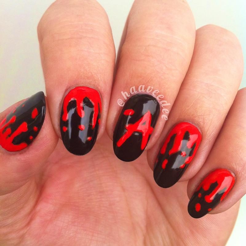 acrylic nails pretty little liars photo - 2