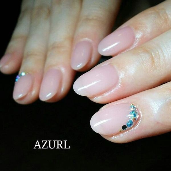acrylic nails rounded photo - 1