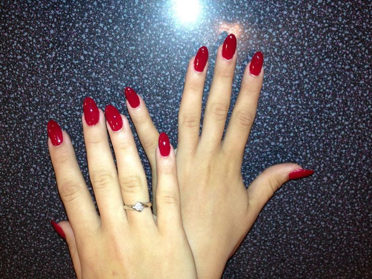 acrylic nails rounded photo - 2