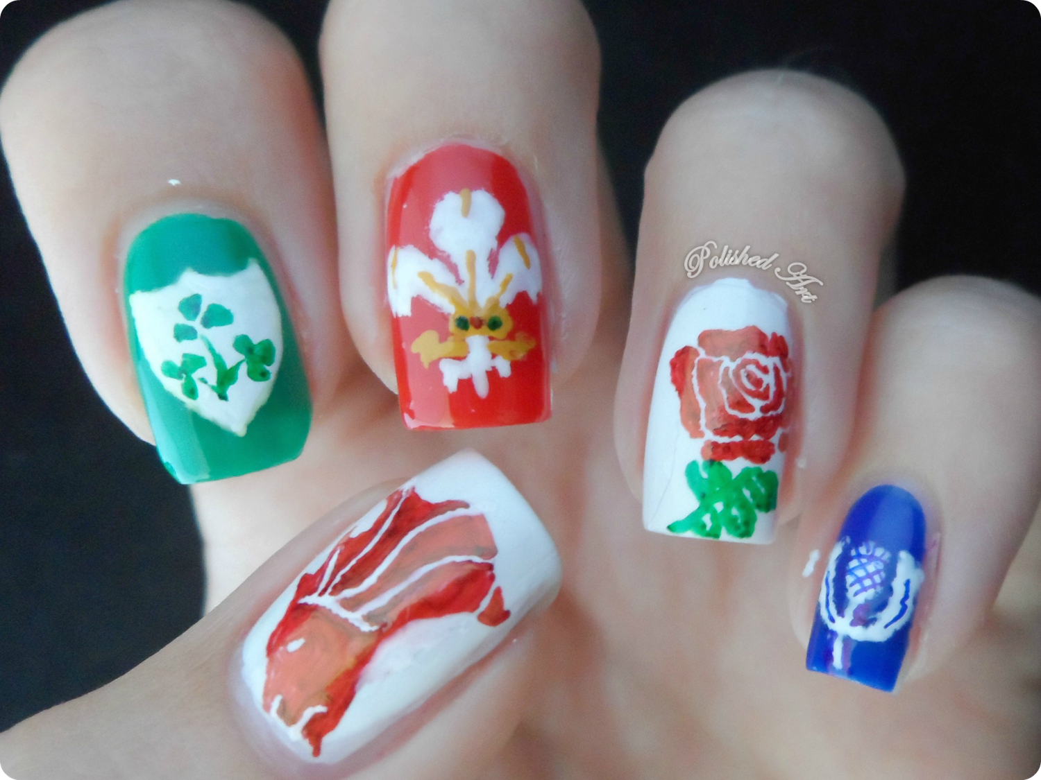 acrylic nails rugby photo - 1