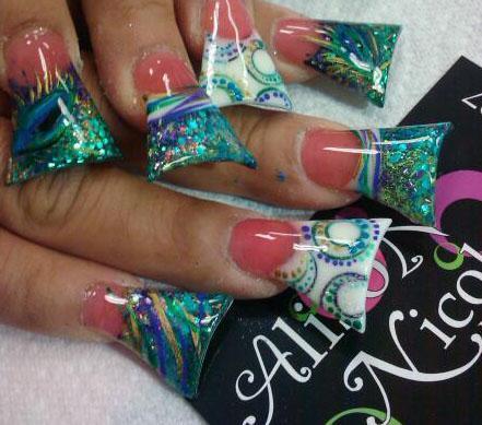 acrylic nails shaped like feet photo - 1