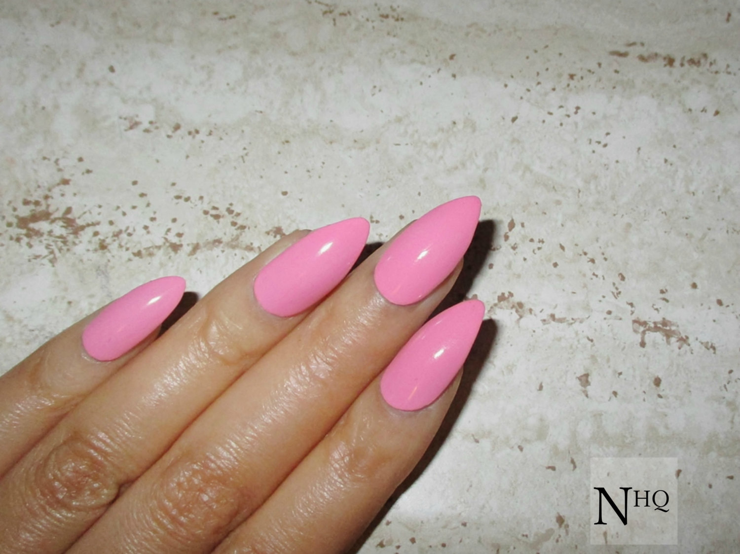 acrylic nails shapes stiletto photo - 1