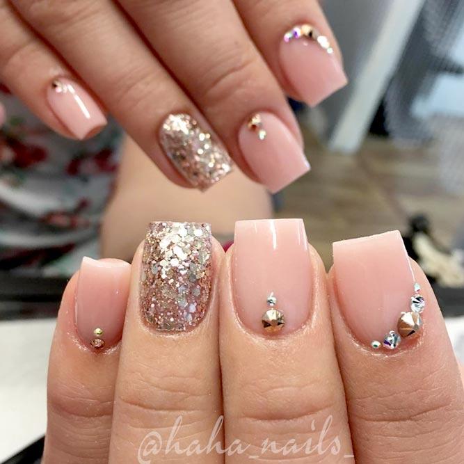 acrylic nails short nails ideas photo - 1