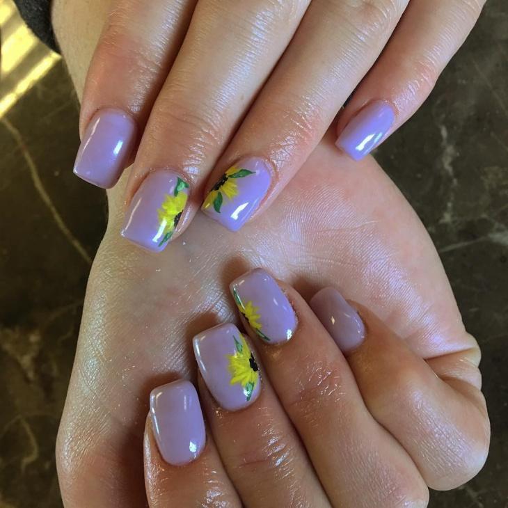 Acrylic Nails Simple Expression Nails