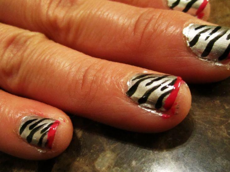 acrylic nails snowflakes short photo - 1