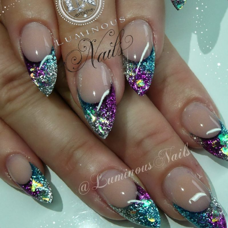 acrylic nails sparkle photo - 2