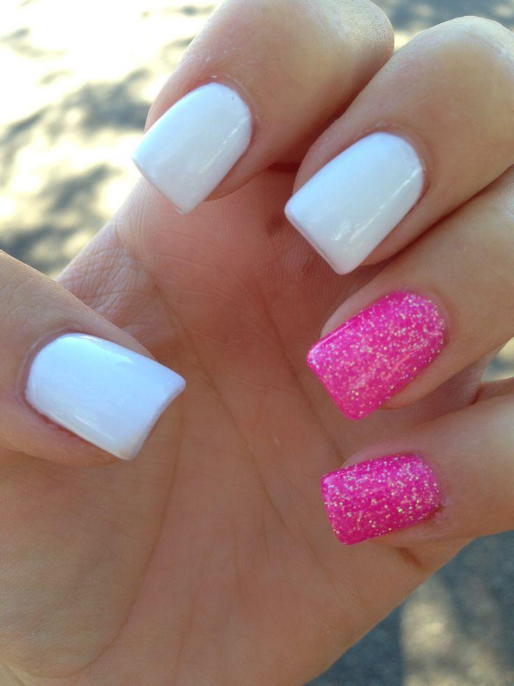 acrylic nails squoval short photo - 1
