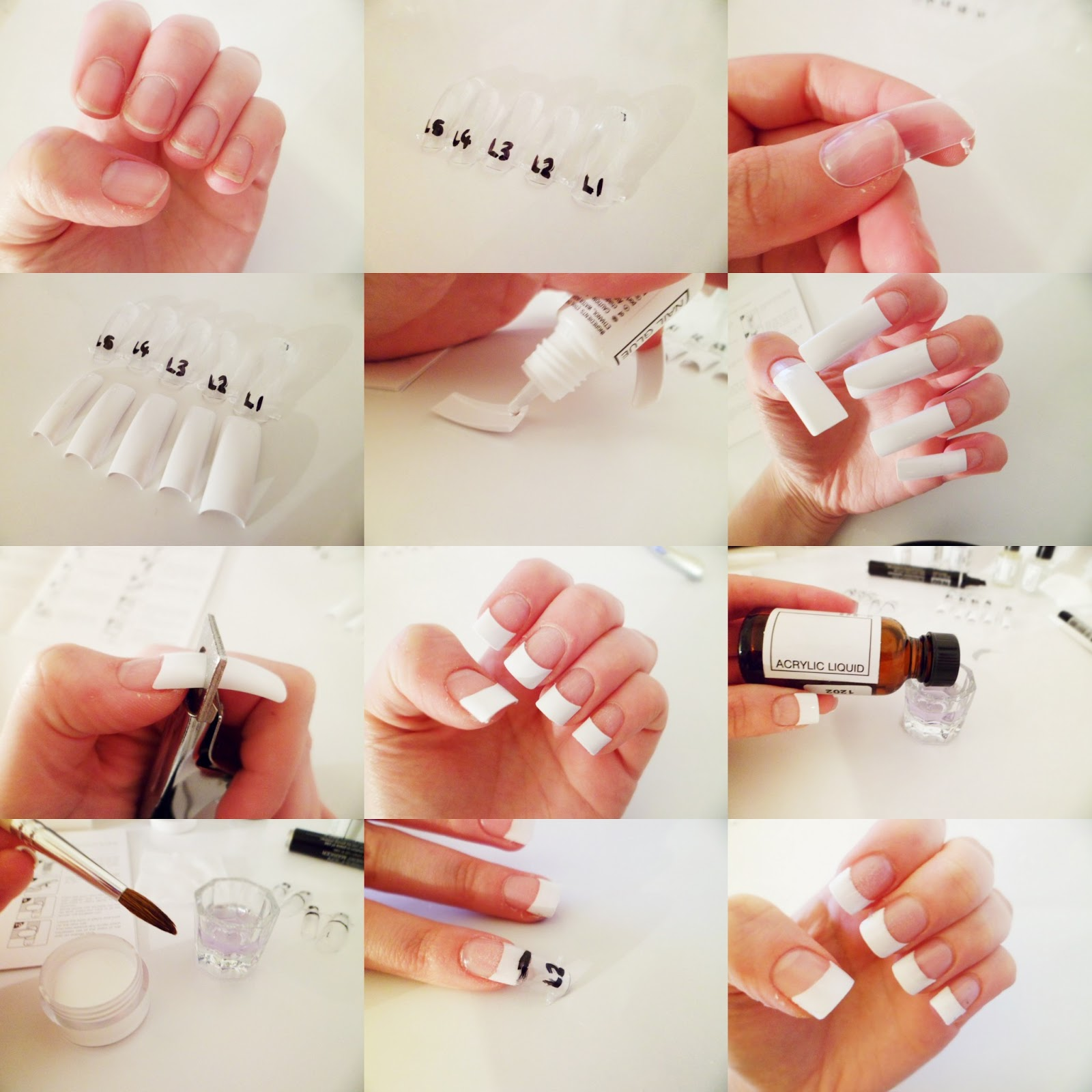 Steps To Putting On Acrylic Nails   NailsTip