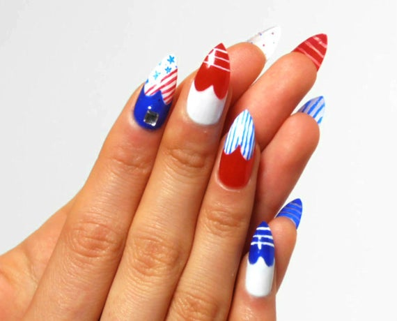 acrylic nails usa nails photo - 2