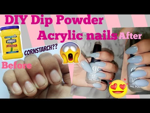 acrylic nails using cornstarch photo - 1