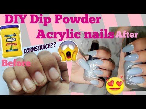 acrylic nails using cornstarch photo - 2