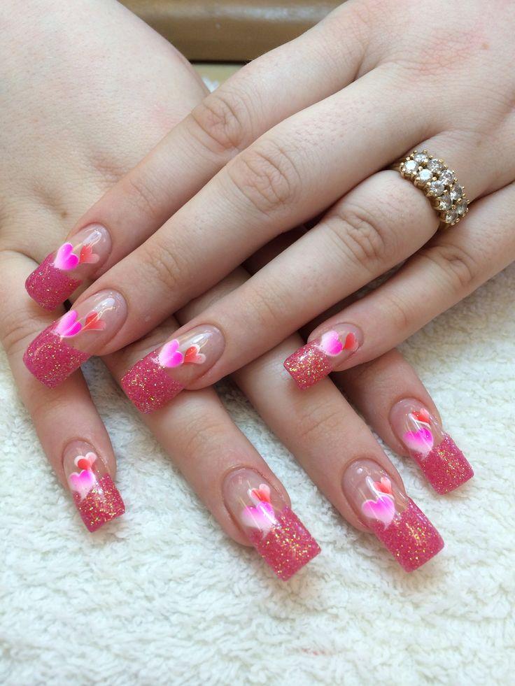 acrylic nails valentines photo - 1