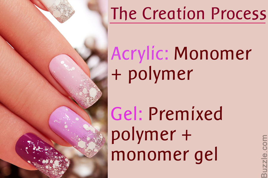 acrylic nails vs powder photo - 1