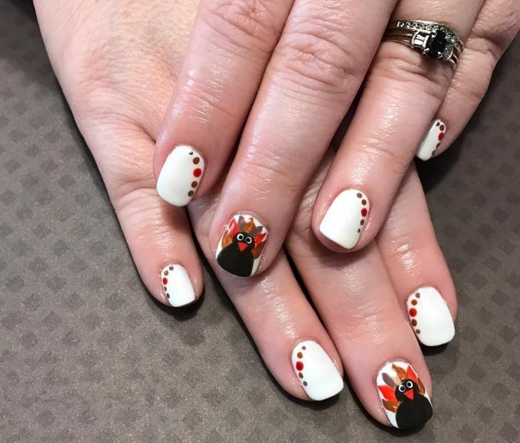 Acrylic nails white - Expression Nails