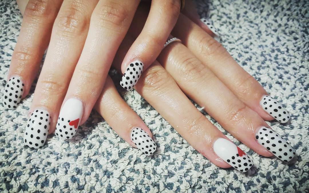 acrylic nails white tip photo - 1