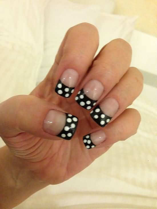 acrylic nails white tip photo - 2