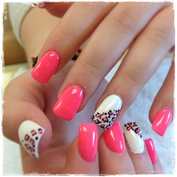 acrylic nails with designs photo - 1