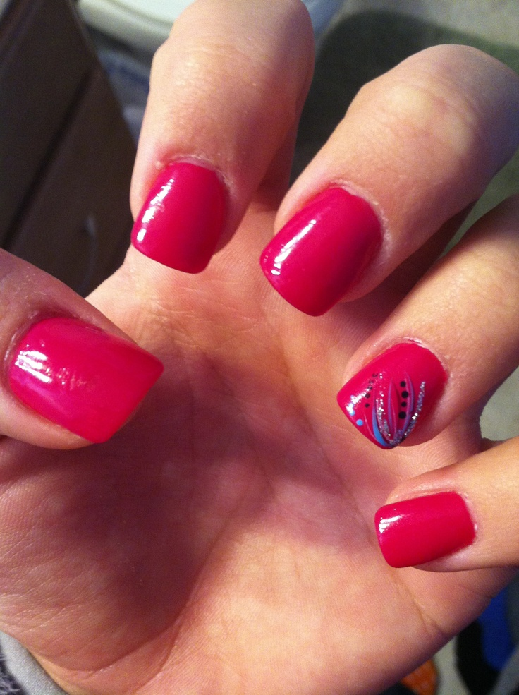 acrylic nails with designs photo - 2