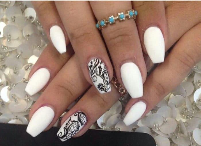 Acrylic Nails With Diamonds Photo