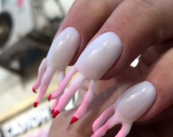 acrylic nails with fingers photo - 1