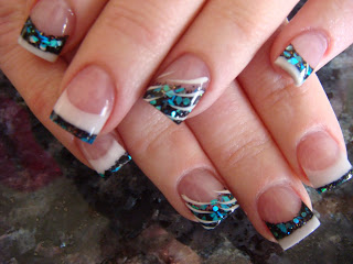 acrylic nails with flies in them photo - 1