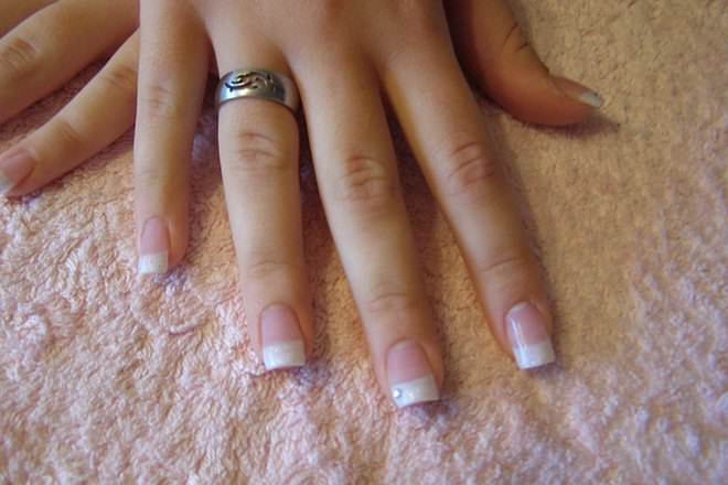 Acrylic nails with gel overlay - Expression Nails