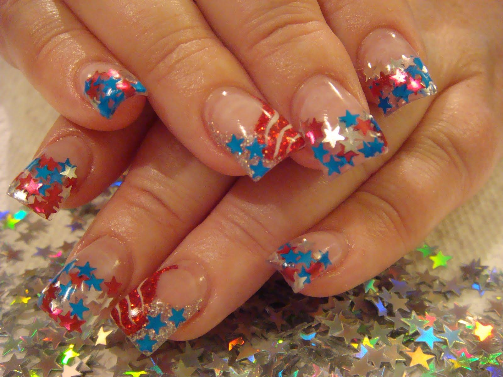 acrylic nails with stars photo - 1