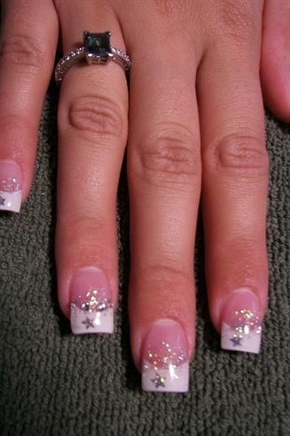 acrylic nails with stars photo - 2