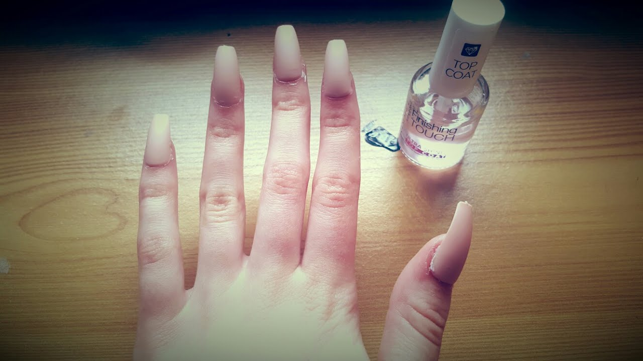 acrylic nails without glue photo - 2