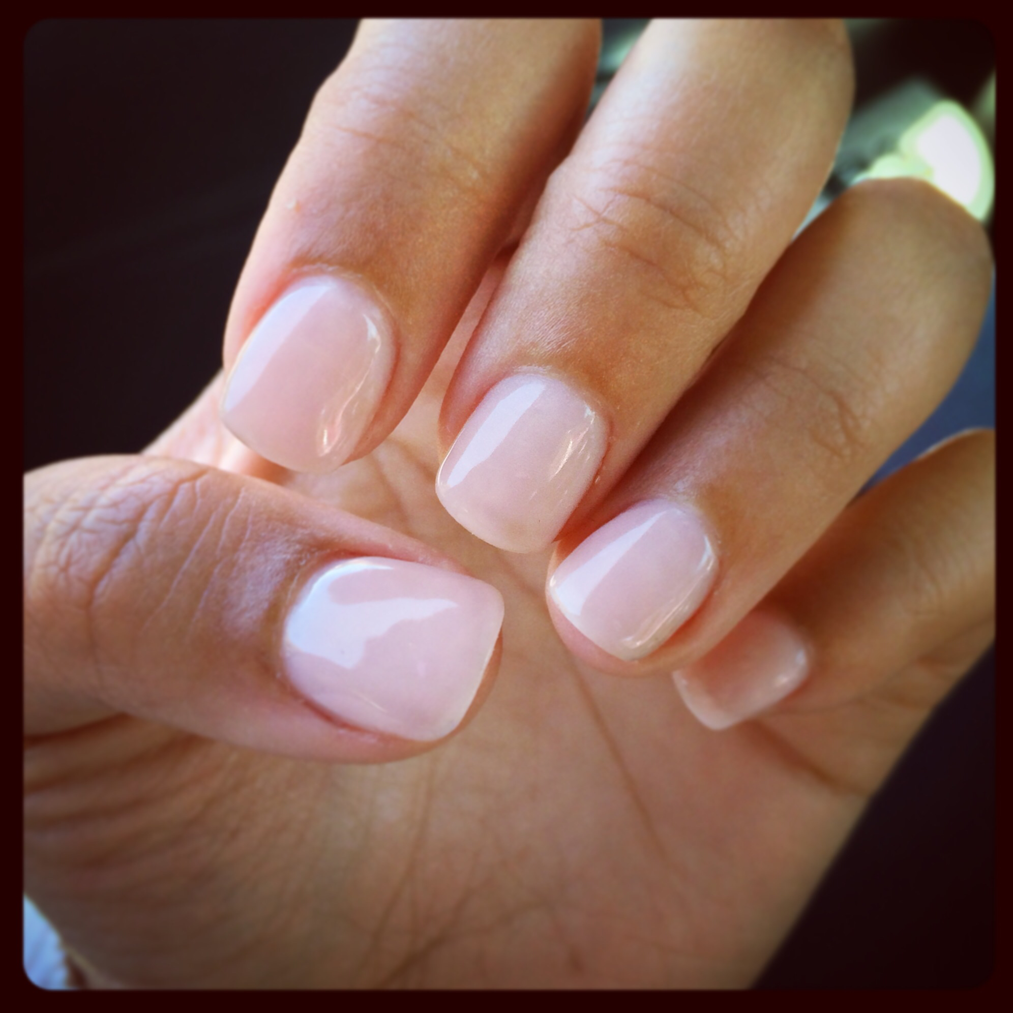 acrylic on real nails photo - 1