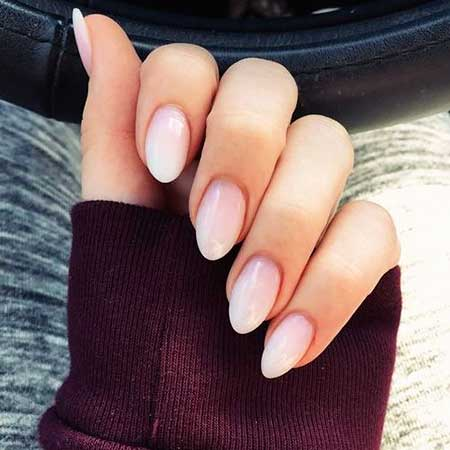 acrylic overlay on short nails photo - 1