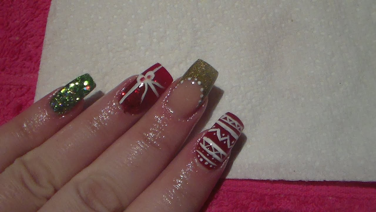 acrylic painting on nails photo - 2