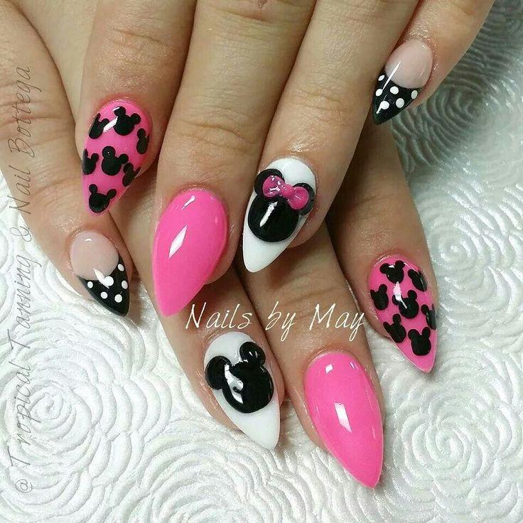 acrylic stiletto nails princess theme photo - 1