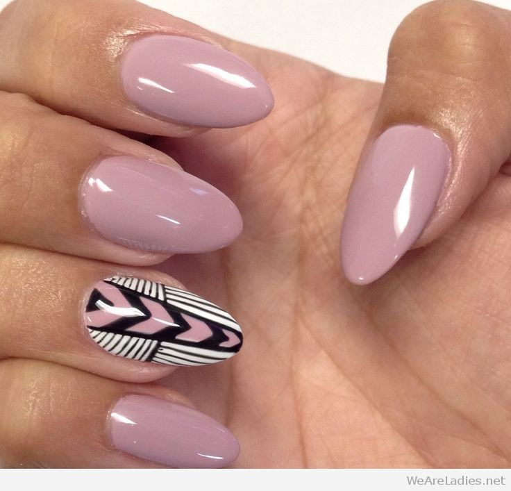 almond shaped gel nails photo - 1